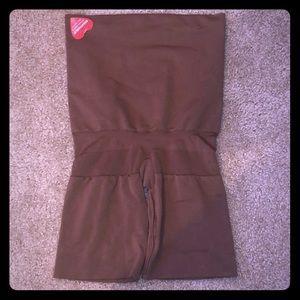 NWT SPANX Brown High Waist Butt Lifting Shaper M